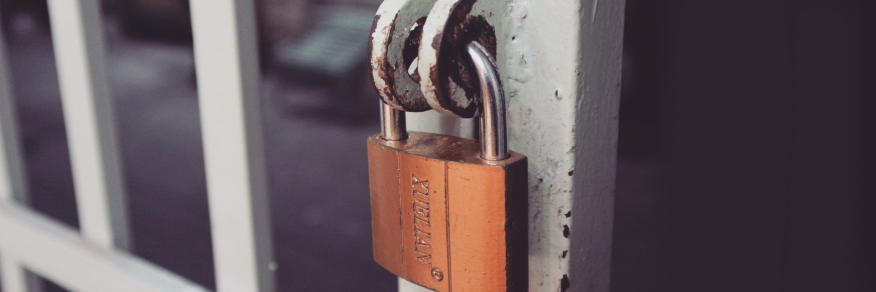 Image of a button with a padlock and the word 'Privacy'